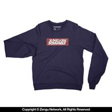 "Scramble ""Box Logo"" Navy Crew..."